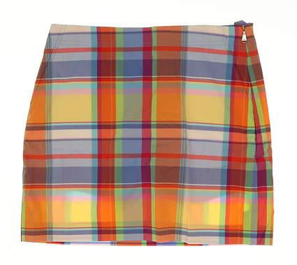 New Womens Ralph Lauren Golf Skort Size 4 Multi MSRP $145 WGolf FA16