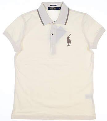 New Womens Ralph Lauren Golf Polo Small S Cream MSRP $98