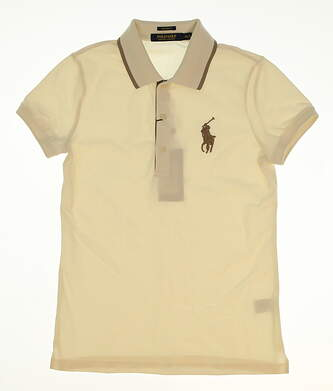 New Womens Ralph Lauren Golf Polo X-Small XS Off-White MSRP $98