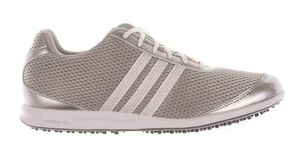 New Womens Golf Shoe Adidas Adicross S Medium 9.5 Silver MSRP $100