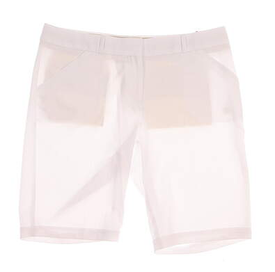 New Womens Peter Millar Golf Shorts Size 8 White MSRP $90