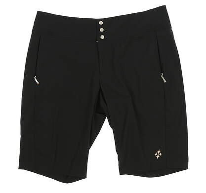New Womens Jo Fit Bermuda Golf Shorts Size 10 Black MSRP $79 GB507