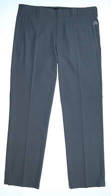 New Mens Adidas Puremotion Stretch 3 Golf Pants 36x32 Vista Gray MSRP $70