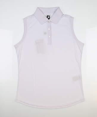 New Womens Footjoy Golf Sleeveless Polo X-Small XS White MSRP $80 27072