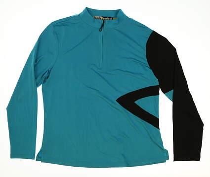 New Womens Jamie Sadock Golf 1/4 Zip Pullover Large L Blue MSRP $80