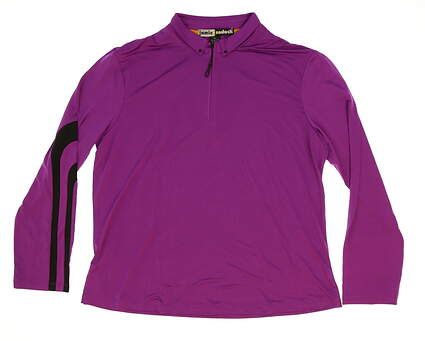 New Womens Jamie Sadock Golf 1/4 Zip Pullover X-Large XL Purple MSRP $80