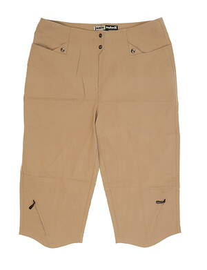 New Womens Jamie Sadock Golf Capris Size 14 Khaki MSRP $9381307