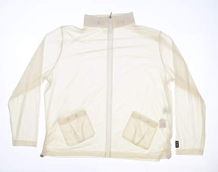 New Womens Jamie Sadock Lightweight Golf Jacket Large L White MSRP $95 61605