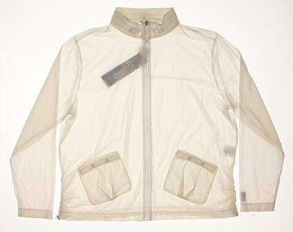 New Mens Jamie Sadock Golf Jacket Medium M White MSRP $99