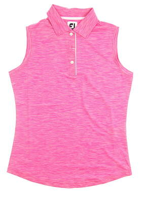 New Womens Footjoy Golf Sleeveless Polo X-Small XS Pink MSRP $80 27098