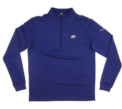 New W/ Logo Mens Straight Down 1/2 Zip Golf Pullover Medium M Blue MSRP $100