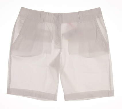 New Womens Vineyard Vines Golf Shorts Size 6 White MSRP $78 2H0393