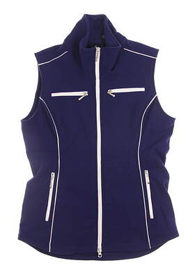 New Womens Jo Fit Golf Small S Blue Sleeveless Jacket MSRP $148 690148
