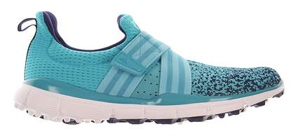 New W/O Box Womens Golf Shoe Adidas ClimaCool Knit 8.5 Blue MSRP $110