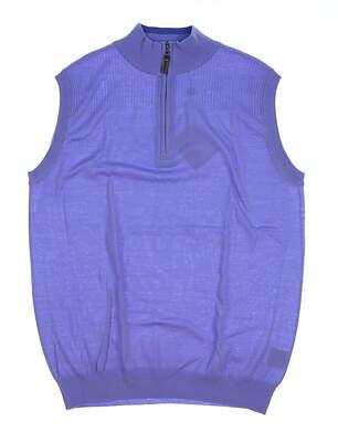 New Mens G-Mac 1/4 Zip Sweater Vest Large L Lila MSRP $117