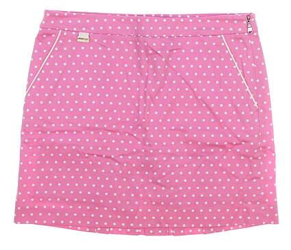 New Womens Ralph Lauren Polka Dot Golf Skort Size 8 Pink MSRP $145
