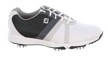 New Mens Golf Shoe Footjoy Energize Medium 9.5 White/Black MSRP $100 58139