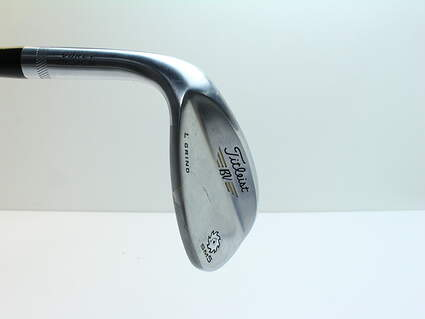 Titleist Vokey SM5 Tour Chrome Wedge Lob LW 58* 4 Deg Bounce L Grind Titleist SM5 BV Steel Wedge Flex Left Handed 35 in