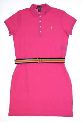 New Womens Ralph Lauren Golf Dress Large L Pink MSRP $125