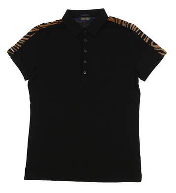 New Womens Ralph Lauren Golf Polo Medium M Black MSRP $89