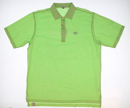 New W/ Logo Mens Peter Millar Golf Polo X-Large XL Green MSRP $75