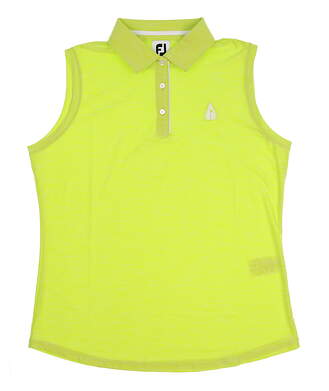 New W/ Logo Womens Footjoy Golf Sleeveless Polo Large L Green MSRP $75