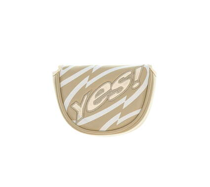 Yes! Ladies C-Groove Mallet Putter Headcover Tan/White
