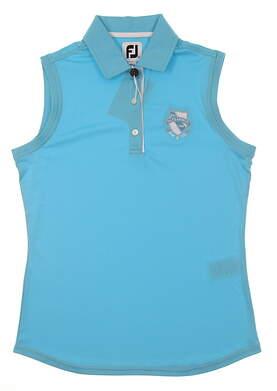 New W/ Logo Womens Footjoy Golf Sleeveless Polo X-Small XS Blue MSRP $60 27077