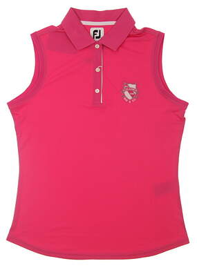 New W/ Logo Womens Footjoy Golf Sleeveless Polo Medium M Pink MSRP $60 27074