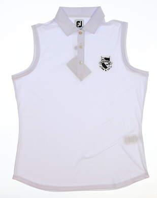 New W/ Logo Womens Footjoy All Sleeveless Polo X-Large XL White MSRP $76