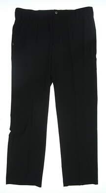 New Mens Adidas Regular Fit Golf Pants Size 36 Black MSRP $80 AF1710