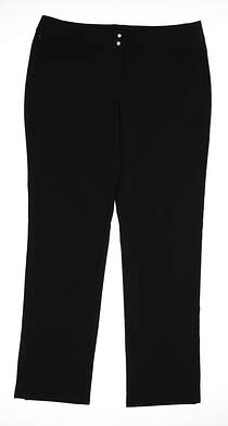 New Womens Adidas Climastorm Golf Pants Size 12 Black MSRP $95 AE9010