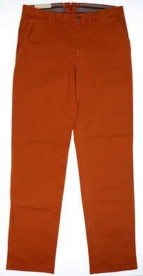 New Mens Peter Millar Sateen Pants Size 36 Orange MSRP $145 MF16B86