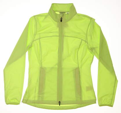 New Womens Puma Golf Wind Jacket Small S Green MSRP $70 570549