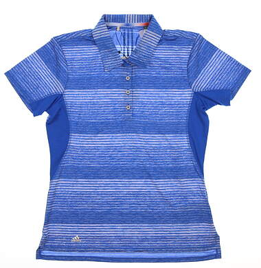 New Womens Adidas Golf Polo Small S Blue MSRP $66 BC2776