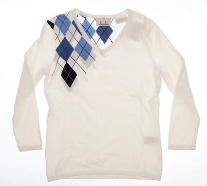 New Womens EP Pro Monticello Golf Sweater X-Small XS White MSRP $99 4813DA