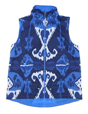 New Womens Ralph Lauren Vest Medium M Blue MSRP $185 281532082001