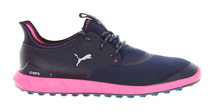 New W/O Box Womens Golf Shoe Puma Ignite Spikeless Sport Medium 6 Peacoat/Knockout Pink MSRP $110