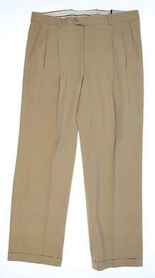 New Mens Fairway & Greene Golf Pants 36x30 Tan MSRP $70 711730