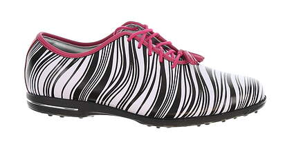 New Womens Golf Shoe Footjoy Tailored Collection Medium 9 Black/White MSRP $150