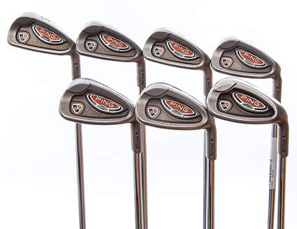 Ping i10 Iron Set 5-PW GW Ping AWT with Cushin Insert Steel Stiff Right Handed Purple dot 37.75 in