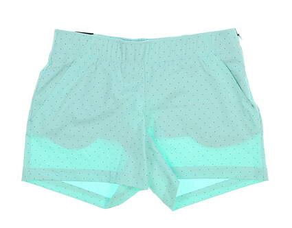 New Womens Under Armour Polka Dot Shorts Size Medium M Green MSRP $75 UW9163