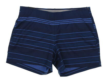 New Womens Under Armour Stripe Shorts Size Medium M Blue MSRP $75 UW9163
