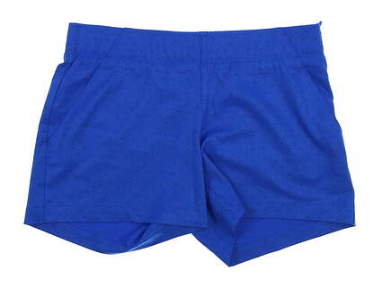 New Womens Under Armour Polka Dot Shorts Size Medium M Blue MSRP $75 UW9163