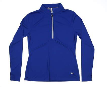 New Womens Under Armour HeatGear1/2 Zip Golf Pullover Medium M Blue MSRP $70 UW1435