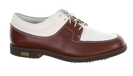 New Womens Golf Shoe Footjoy Europa Collection 8.5 White/Brown MSRP $140 98903
