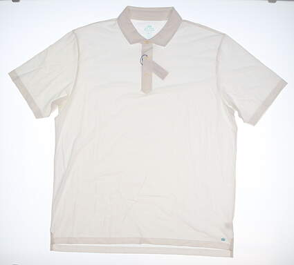 New Mens Peter Millar Golf Polo X-Large XL White MSRP $78 MS17K70