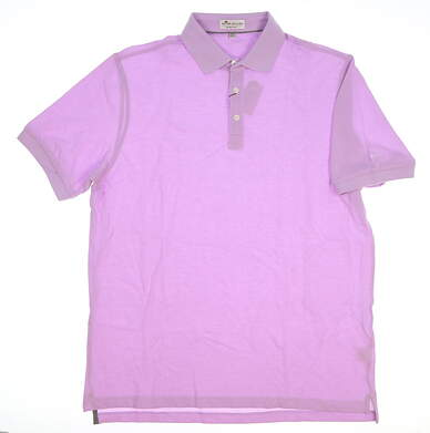 New W/ Logo Mens Peter Millar Golf Polo Large L Purple MSRP $125 MS17K60