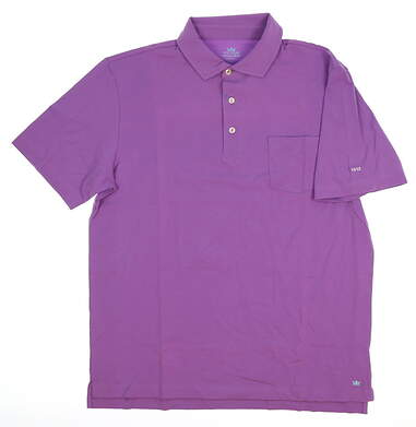 New W/ Logo Mens Peter Millar Golf Polo Medium M Purple MSRP $78 MS17K70P