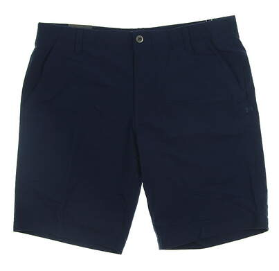 New Mens Under Armour Golf Shorts Size 32 Navy Blue MSRP $70